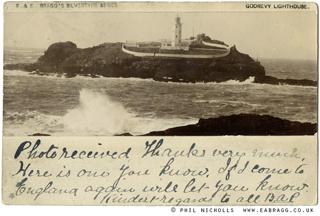ea bragg, godrevy lighthouse silvertype