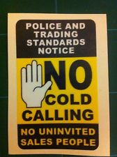 No cold calling