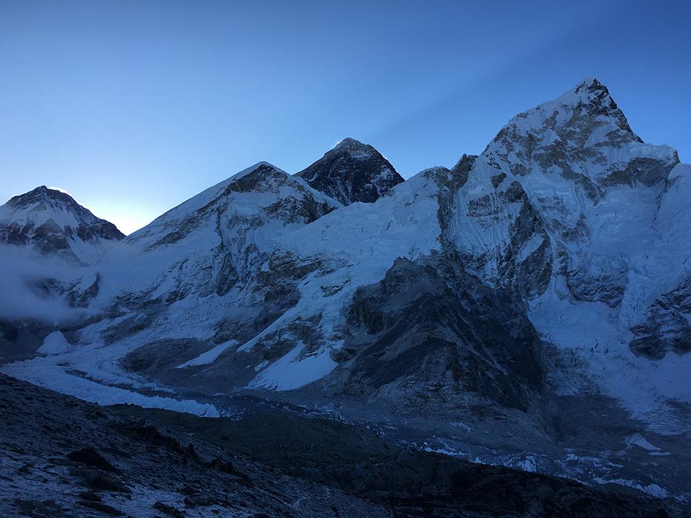 The black coloured peak is Everest